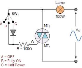 modified triac switching circuit