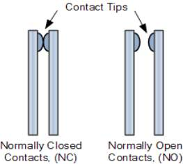 electrical relay contact tips