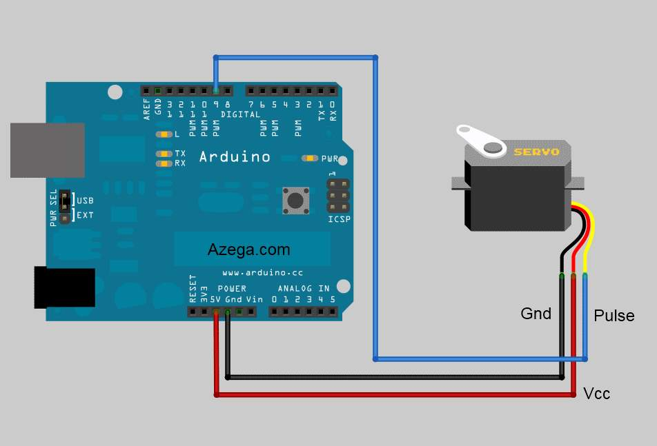 Image result for servo motor circuit arduino
