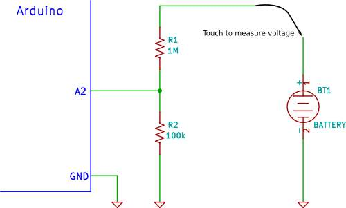 Arduino voltage divider circuit