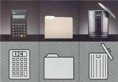 Apple marketed the visual metaphor in 1983 as a key benefit of the Lisa computer. This advertisement said 'You can work with Lisa the same familiar way you work at your desk'. However a cont
