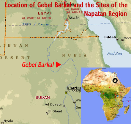 Image result for Jebel Barkal map