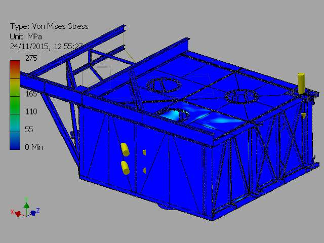 C:VaultWorkSpaceDesignsWave Sub1-4 ScaleFEA REPORTSImages2-000001_FEA_MODEL.iam Stress Analysis Report_Internal Pressure On Outer Chamber_23_11_20155Result_0_1.png