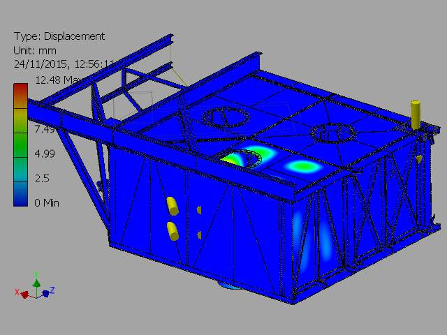 C:VaultWorkSpaceDesignsWave Sub1-4 ScaleFEA REPORTSImages2-000001_FEA_MODEL.iam Stress Analysis Report_Internal Pressure On Outer Chamber_23_11_20155Result_0_2.png