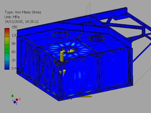C:VaultWorkSpaceDesignsWave Sub1-4 ScaleFEA REPORTSImages2-000001_FEA_MODEL.iam Stress Analysis Report_Internal Pressure On Inner Chamber_23_11_20156Result_0_1.png