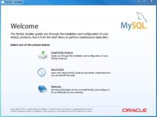 Install MySQL Step 2 - Welcome Screen