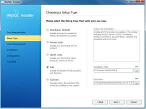 Install MySQL Step 5 - Choosing a Setup Type