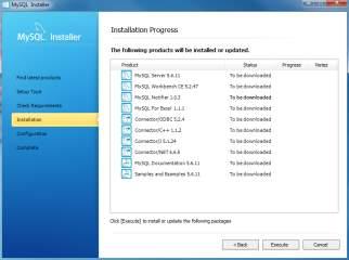 Install MySQL Step 7 - Installation Progress