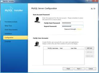 Install MySQL Step 8.1 - MySQL Server Configuration