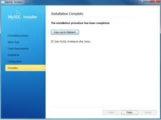 Install MySQL Step 9 - Installation Completes