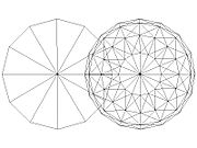 Surface of Sphere Intersecting a Circle (not disk) at Two Points