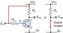 transistor switch in saturation