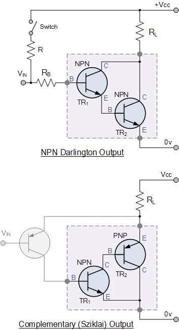 darlington transistor as a switch