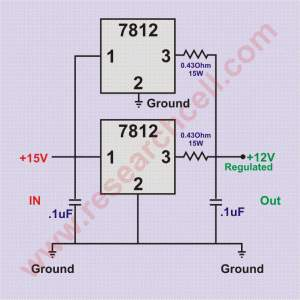 7812 in parallel circuit diagram