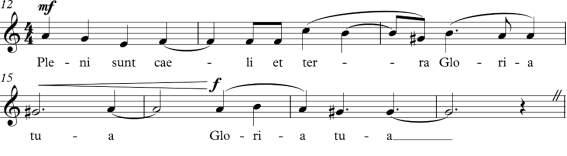 sanctus and agnus dei melodies