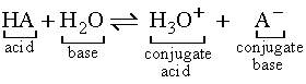 Image result for general acid and base equation