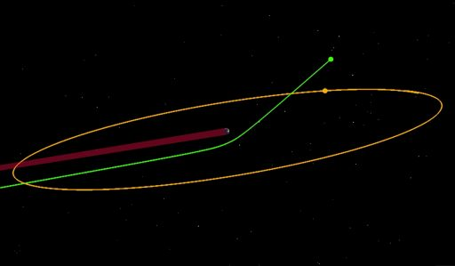 Earth Gravity Assist Trajectory - Image: University of Arizona