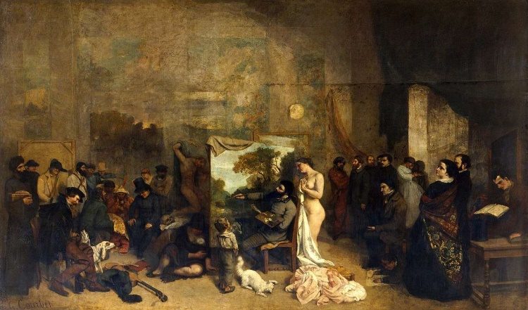 The Artist's Studio, 1855 by Gustave Courbet