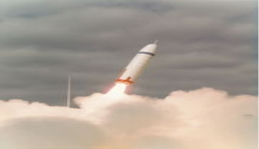 Trident I first launch on 18 January 1977 at Cape Canaveral, showing the aerospike