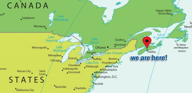 Image result for halifax canada map new york