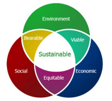 Image result for 3 pillars of sustainable development