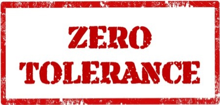 Image result for no tolerance policy