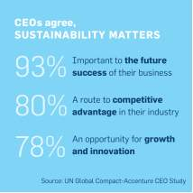 CEOs agree sustainability matters
